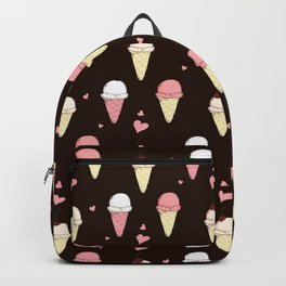 Cute ice cream pattern with small hearts Backpack