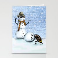 snowman Stationery Cards featuring Snowman by Anna Shell