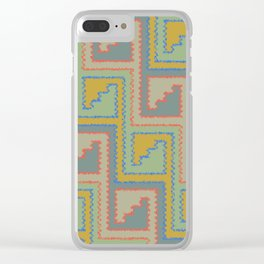 Two Steppe (Ochre) Clear iPhone Case