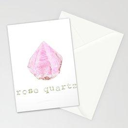 Natural Rose Quartz Stationery Cards