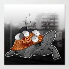 Urban Communication Turtle Canvas Print