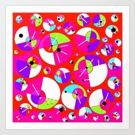 Bubble Red Art Print