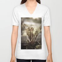 plant V-neck T-shirts featuring PLANT by zulema revilla