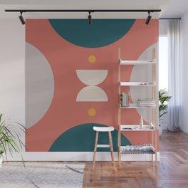 Abstract shapes 4 (Geometric half moon) Wall Mural