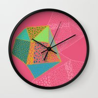 diamonds Wall Clocks featuring Diamonds by Sandra Arduini