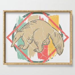 Anteater toothy sloth gift primeval forest Serving Tray