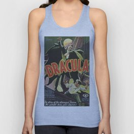 Dracula, vintage horror movie poster Unisex Tank Top