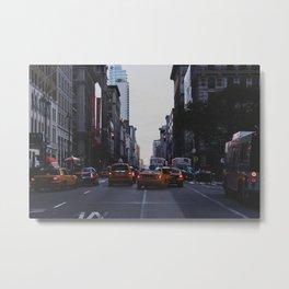 New York Traffic Metal Print