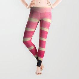 Pink Ombre Geometric Pattern Leggings