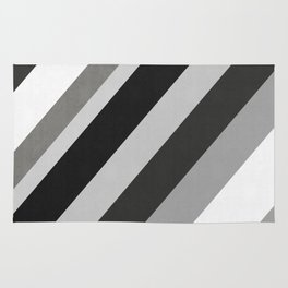Fashion and gray bands II Rug