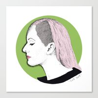 ellie goulding Canvas Prints featuring Ellie by Iiris Ella