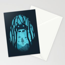 8 Bit Invasion Stationery Cards