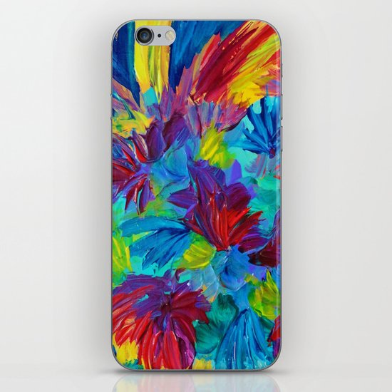 TUTTI FRUTTI - Fruit Punch Floral Bouquet Flowers Bright Bold Colorful Painting Romantic Rainbow iPhone & iPod Skin