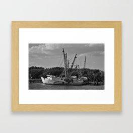 Old Shrimp Boats Framed Art Print