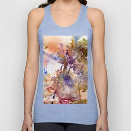 Colorful interior filled with foliage Unisex Tank Top