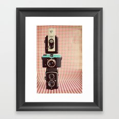Dapper in Technicolor Framed Art Print