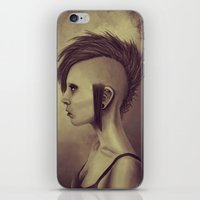 punk iPhone & iPod Skins featuring Punk by quintao