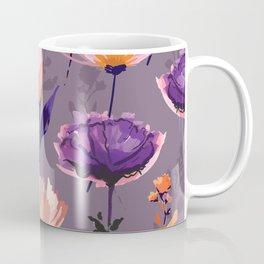 Purple Wildflower in Watercolor Coffee Mug