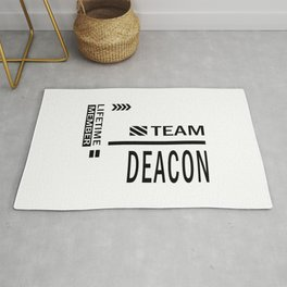 Deacon Personalized Name Birthday Gift Rug
