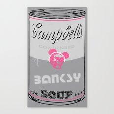Banksy Soup Canvas Print