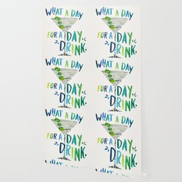 What a Day for a Day Drink – Blue & Green Palette Wallpaper