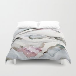serenity: abstract painting Duvet Cover