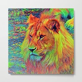 AnimalColor_Lion_004_by_JAMColors Metal Print