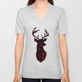 Deer head. Unisex V-Neck