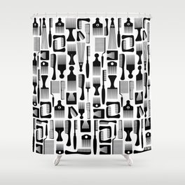 The Comb Over Collection Shower Curtain