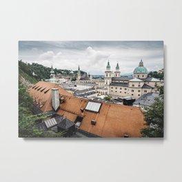 Cityscape of Salzburg, Austria Metal Print