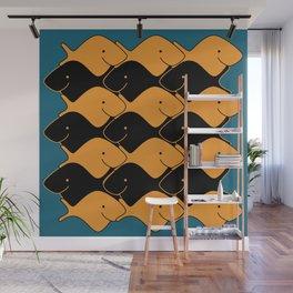 Herringbone Goldfish Wall Mural
