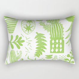 Cactii Textured Print Pattern Rectangular Pillow