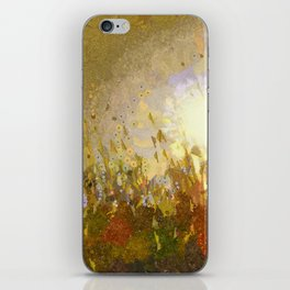 Lavender in the afternoon sun iPhone Skin