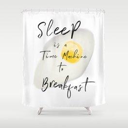 Breakfast / poster, art print, pictures, scandinavian, nursery, deco, saying, christmas, sarcasm, eg Shower Curtain