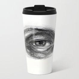 Eye study sketch 1 Metal Travel Mug