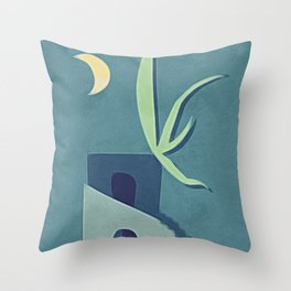 Moon House Throw Pillow