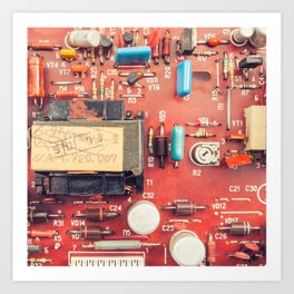 Electronic circuit board Art Print