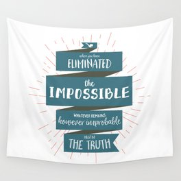 The Truth (blue) Wall Tapestry