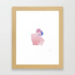 Two men Kissing Framed Art Print