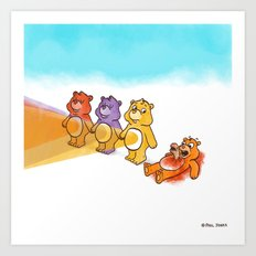 Care Bear Ahhhhh Art Print