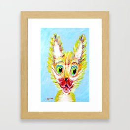 Scardy Cat Framed Art Print