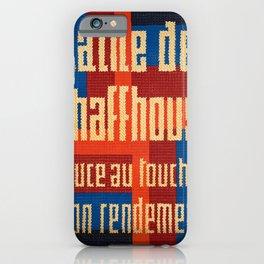 retro plakat laine de schaffhouse iPhone Case