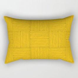 Amber Yellow Faux Bois Wood Pattern Rectangular Pillow