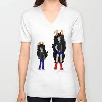 homestuck V-neck T-shirts featuring Vriska by Darkerin Drachen