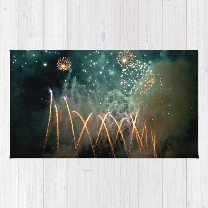 Fireworks Face Rug