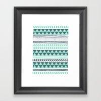 Winter Stripe Framed Art Print
