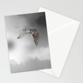 flying owl (tyto alba) Stationery Cards