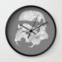 stormtrooper Wall Clocks featuring Stormtrooper by DanielBergerDesign