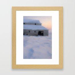 Dawn Rising on the Hores Barn Framed Art Print