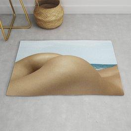 Nude Sunbathing on the Beach Rug